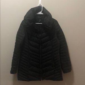 Puffy black coat- like new!